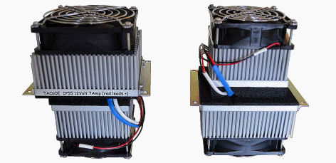 The left image shows a TAC60™ with Hot-Side up. On the right, the Cold-Side is at the top.